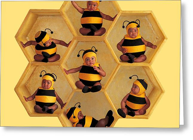 Bees Greeting Cards - Bumblebees Greeting Card by Anne Geddes