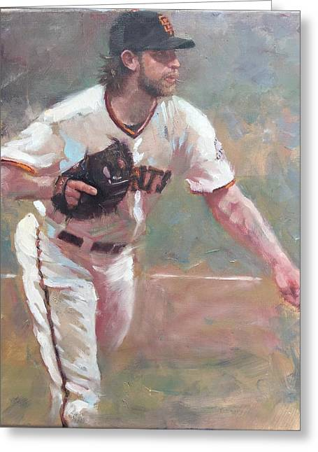Darren Kerr Greeting Cards - Bumgarner 2014 NLCS Greeting Card by Darren Kerr