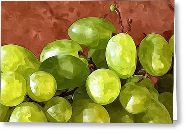 Organic Greeting Cards - Bunch of grapes Greeting Card by Lanjee Chee