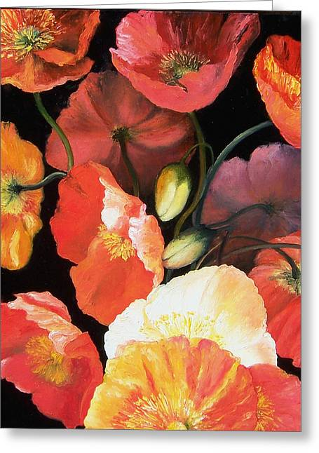 Poppies Home Decor Greeting Cards - Bunch of Poppies Greeting Card by Jan Matson