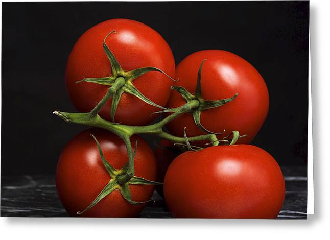 Indoors Greeting Cards - Bunch of tomatoes. Greeting Card by Bernard Jaubert