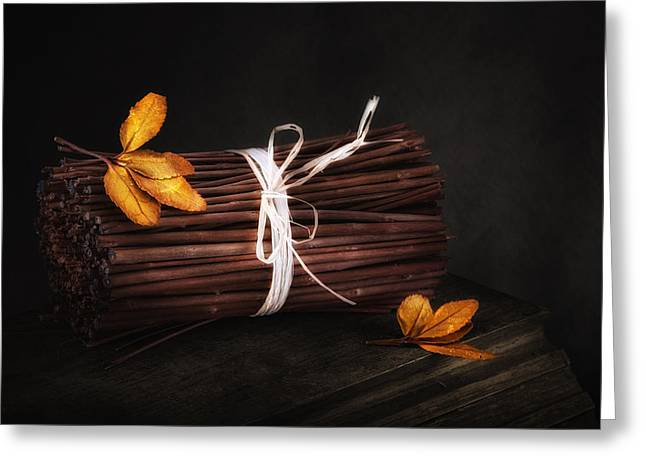 Black Tie Photographs Greeting Cards - Bundle of Sticks Still Life Greeting Card by Tom Mc Nemar