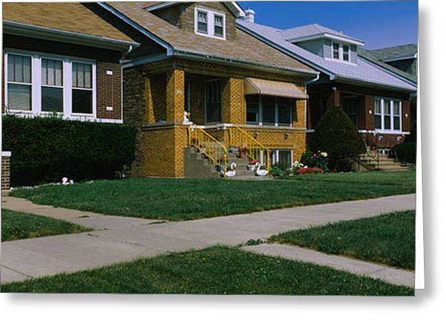 20th Greeting Cards - Bungalows In A Row, Berwyn, Chicago Greeting Card by Panoramic Images