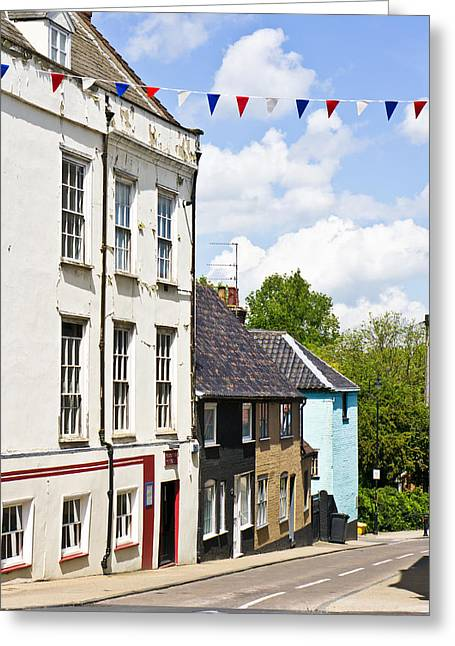 Spring Street Greeting Cards - Bungay Greeting Card by Tom Gowanlock