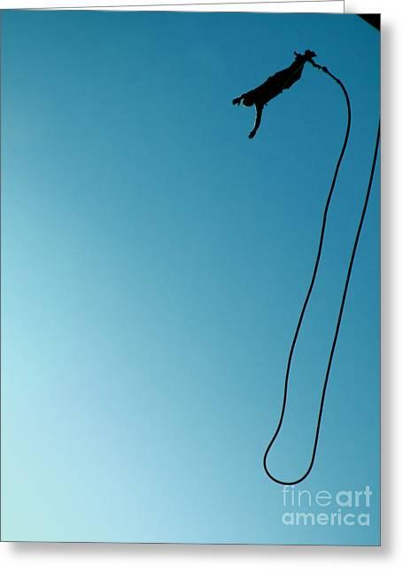 Adrenalin Greeting Cards - Bungee Jumping 08 Greeting Card by Antony McAulay