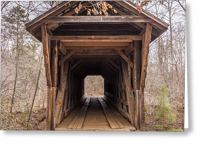 Bunker Hill Greeting Cards - Bunker Hill Covered Bridge 1 Greeting Card by Randy Scherkenbach