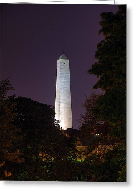 Prescott Greeting Cards - Bunker Hill Monument - Boston Greeting Card by Joann Vitali