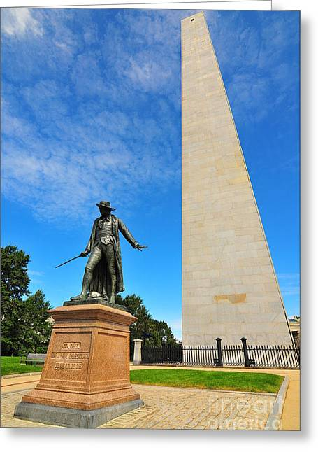 Bunker Hill Greeting Cards - Bunker Hill Monument Greeting Card by Catherine Reusch  Daley