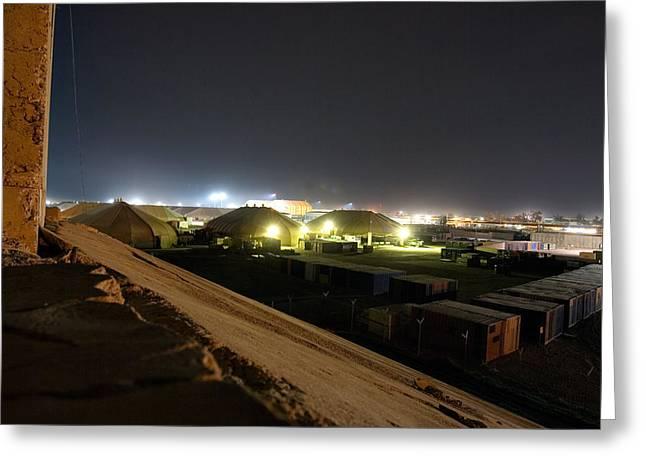 Bunker over Iraq Greeting Card by Darin Pemberton