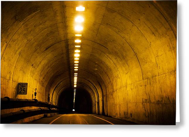 Sausalito Greeting Cards - Bunker Road Tunnel Greeting Card by SFPhotoStore