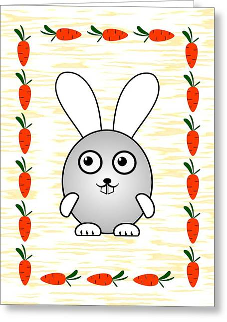 Bunny Greeting Cards - Bunny - Animals - Art for Kids Greeting Card by Anastasiya Malakhova