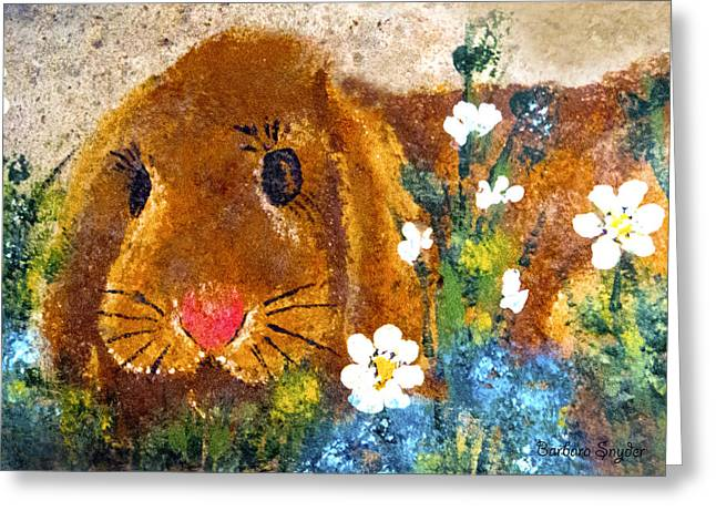 Bunny Greeting Cards - Bunny Rabbit Greeting Card by Barbara Snyder