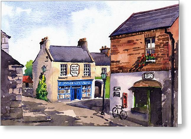 Banquet Greeting Cards - CLARE  Bunratty Folk Village  Greeting Card by Val Byrne