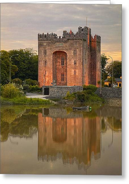 Hierarchical Greeting Cards - Bunratty Castle Greeting Card by Michael Walsh
