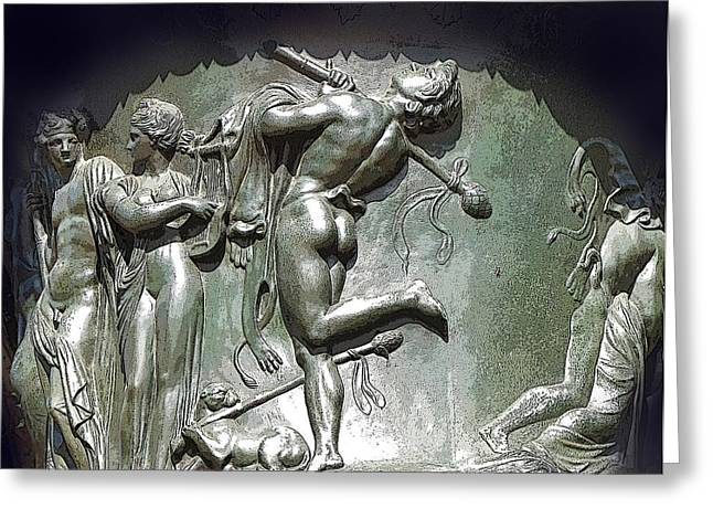 Nude Relief Sculpture Greeting Cards - Buns of Steel Greeting Card by Ian  MacDonald
