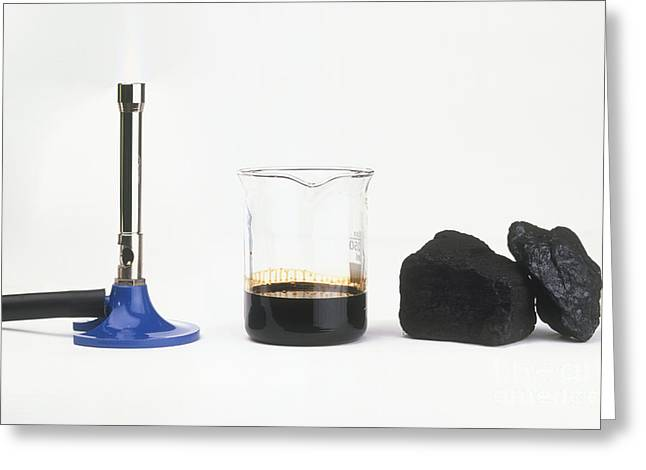 Oil Burner Greeting Cards - Bunsen Burner, Oil And Coal Greeting Card by Andy Crawford / Dorling Kindersley