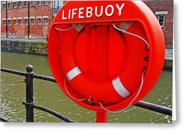 Buoy foam lifesaving ring Greeting Card by Luis Alvarenga