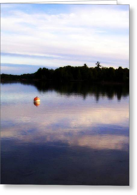 Elk Rapids Greeting Cards - Buoy on the Torch Bayou Greeting Card by Michelle Calkins