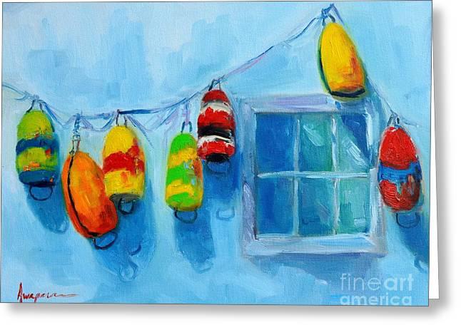 Painted Buoys And Boat Floats  Greeting Card by Patricia Awapara