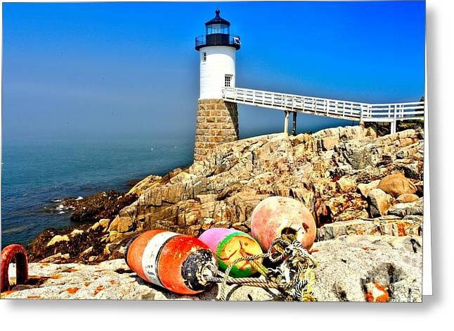 Haut Greeting Cards - Buoys At The Headlight Greeting Card by Adam Jewell