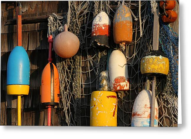 Buoys Greeting Card by Juergen Roth