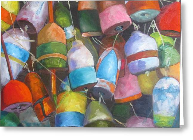 Florida Seafood Greeting Cards - Buoys Greeting Card by Susan Richardson