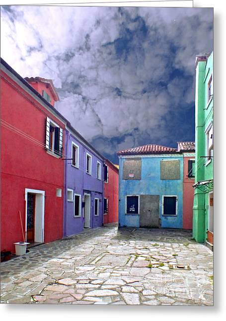 Casa Romantica Greeting Cards - Burano 09 Greeting Card by Giorgio Darrigo