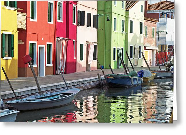 Cheri Randolph Greeting Cards - Burano Reflections Greeting Card by Cheri Randolph
