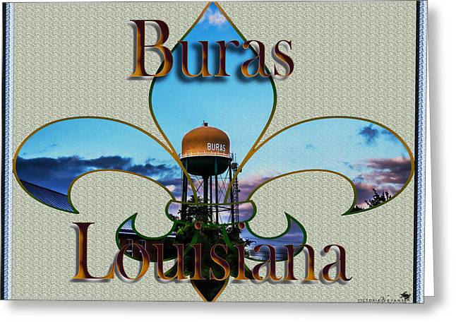 Flur Greeting Cards - Buras Louisiana Greeting Card by Victoria Evans