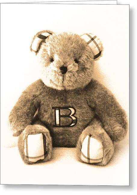 Special Moment Greeting Cards - Burberry bear Greeting Card by Gina Dsgn