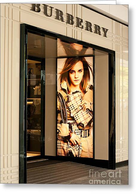 Emma Greeting Cards - Burberry Emma Watson 01 Greeting Card by Rick Piper Photography