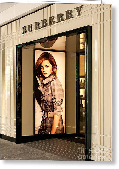 Burberry Emma Watson 02 Greeting Card by Rick Piper Photography