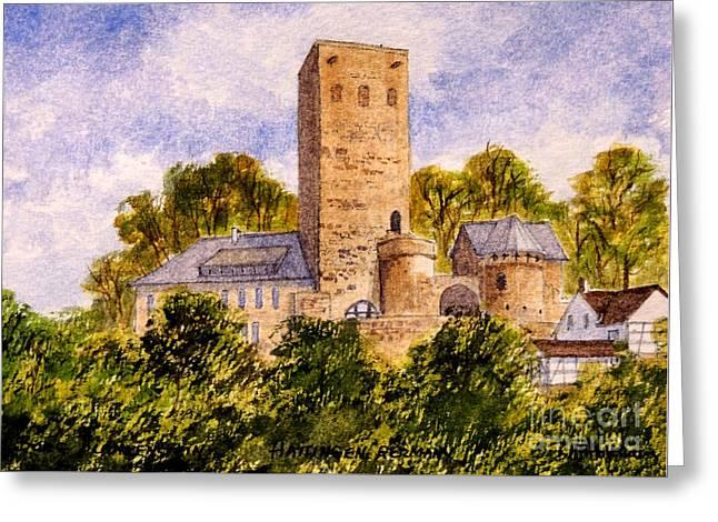 Burg Blankenstein Hattingen Germany Greeting Card by Bill Holkham