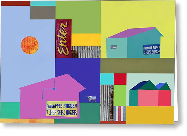 Cheeseburger Greeting Cards - Burger joint #3 Greeting Card by Elena Nosyreva