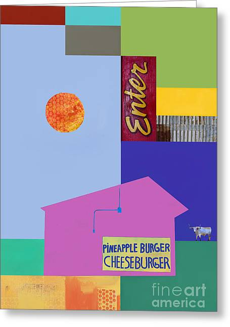 Cheeseburger Greeting Cards - Burger joint  #4 Greeting Card by Elena Nosyreva