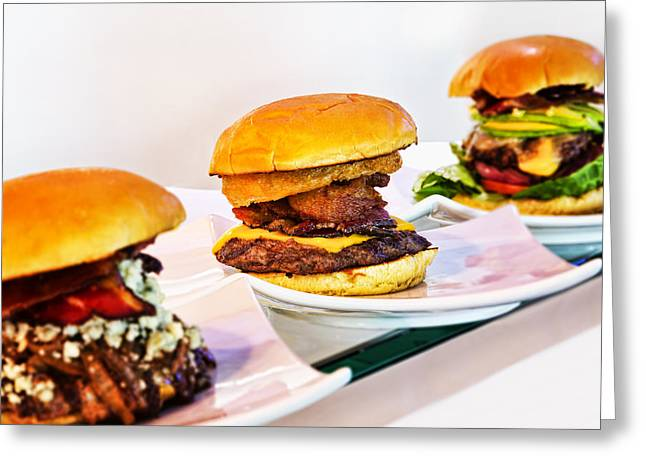 Hamburger Greeting Cards - Burger Time Greeting Card by Kelley King