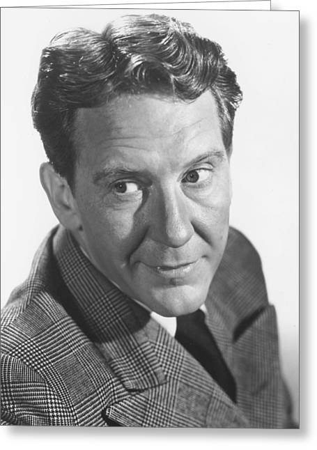 Burgess Meredith Greeting Card by Silver Screen