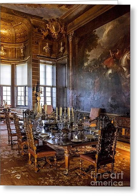 Edwardian Greeting Cards - Burghley House Dinner  Greeting Card by Svetlana Sewell