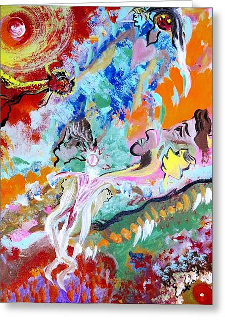 Human Spirit Paintings Greeting Cards - Buried Alive Greeting Card by Michael Braun