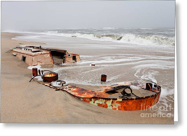 Storm Prints Photographs Greeting Cards - Buried Treasure on the Outer Banks I Greeting Card by Dan Carmichael