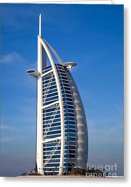 Fototrav Print Greeting Cards - Burj Al Arab hotel Dubai Greeting Card by Fototrav Print
