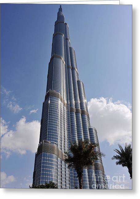Photographic Print Box Greeting Cards - Burj Khalifa 1 Greeting Card by Graham Taylor