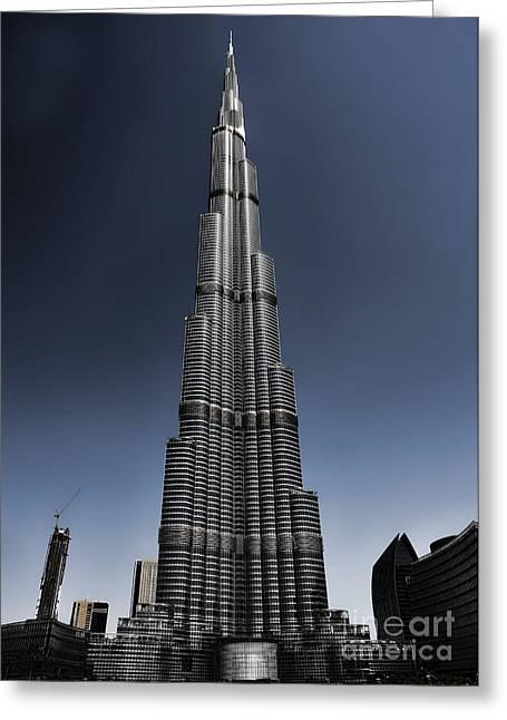 Sale Printing Greeting Cards - Burj Khalifa 3 Greeting Card by Graham Taylor