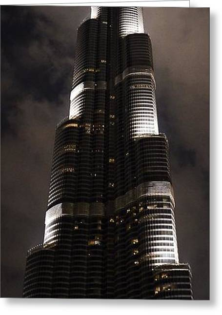 Burj Khalifa Greeting Card by Corinne Rhode