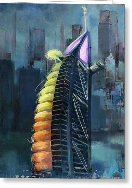 Bahrain Greeting Cards - Burj Ul Arab  Greeting Card by Corporate Art Task Force