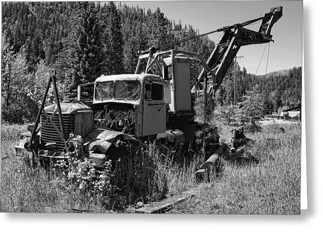 Logging Tractor Greeting Cards - Burke Idaho Logging Truck 2 Greeting Card by Daniel Hagerman