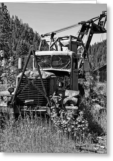 Logging Tractor Greeting Cards - Burke Idaho Logging Truck Greeting Card by Daniel Hagerman