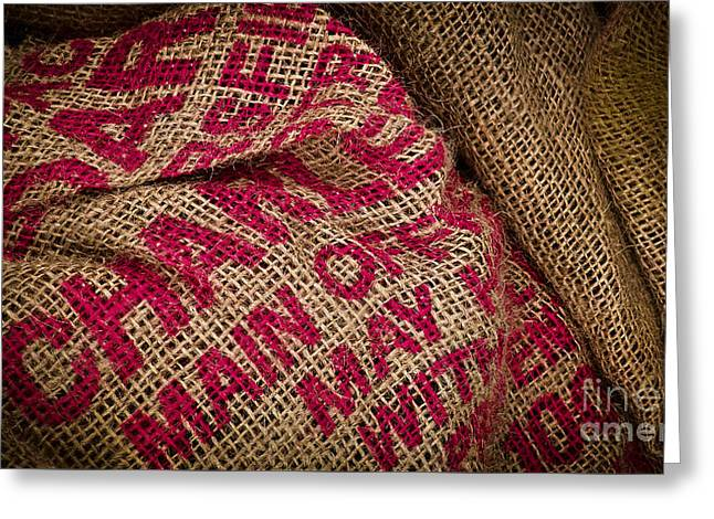 Burlap Bag Greeting Card by Colleen Kammerer
