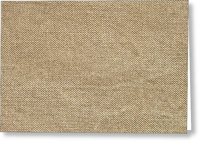Lint Greeting Cards - Burlap Greeting Card by Tom Gowanlock