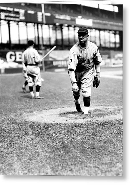 Brooklyn Dodgers Greeting Cards - Burleigh Grimes Follow Through Greeting Card by Retro Images Archive